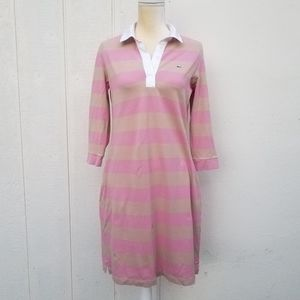 Lacoste striped polo shirt dress size 44